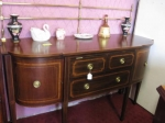 Inlaid Mahogany sideboard with brass gallery