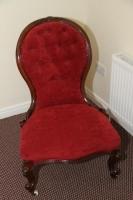 Victorian Mahogany Ladies Chair